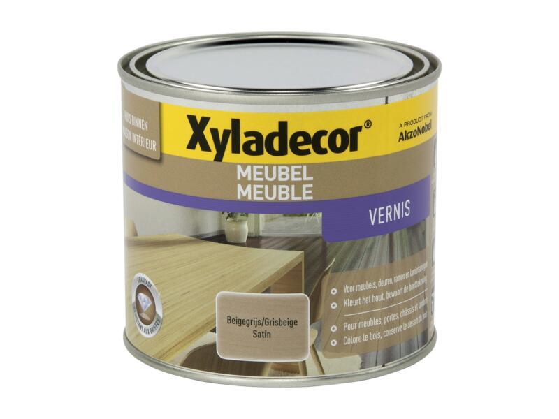 Xyladecor vernis meuble à séchage rapide satin 0,5l gris beige