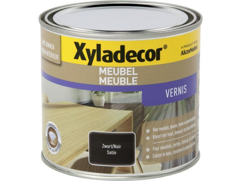 Xyladecor vernis meuble à séchage rapide satin 0,5l noir