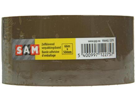 Sam verpakkingstape 66m x 50mm bruin