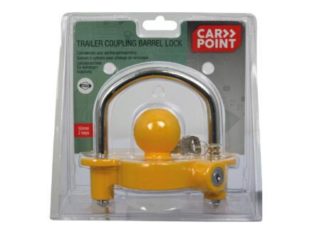 Carpoint verrou d'attelage avec serrure à cylindre 50mm