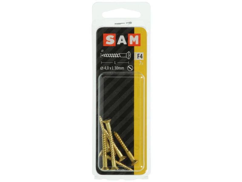 Sam vis à bois 30x4 mm laiton 7 pièces