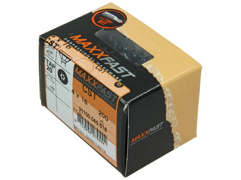 Maxxfast vis à bois universelles CST 4x16 mm zingué 200 pièces