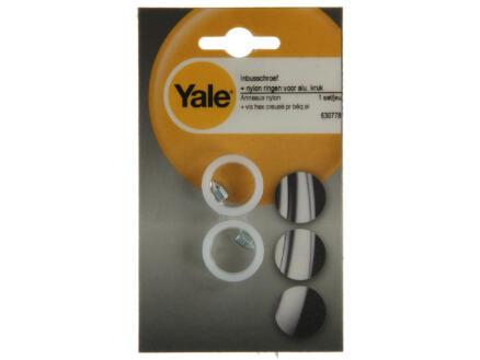 Yale vis et anneaux pour poignées de porte en aluminium
