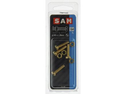 Sam vis métal avec écrou 20x5 mm laiton 4 pièces