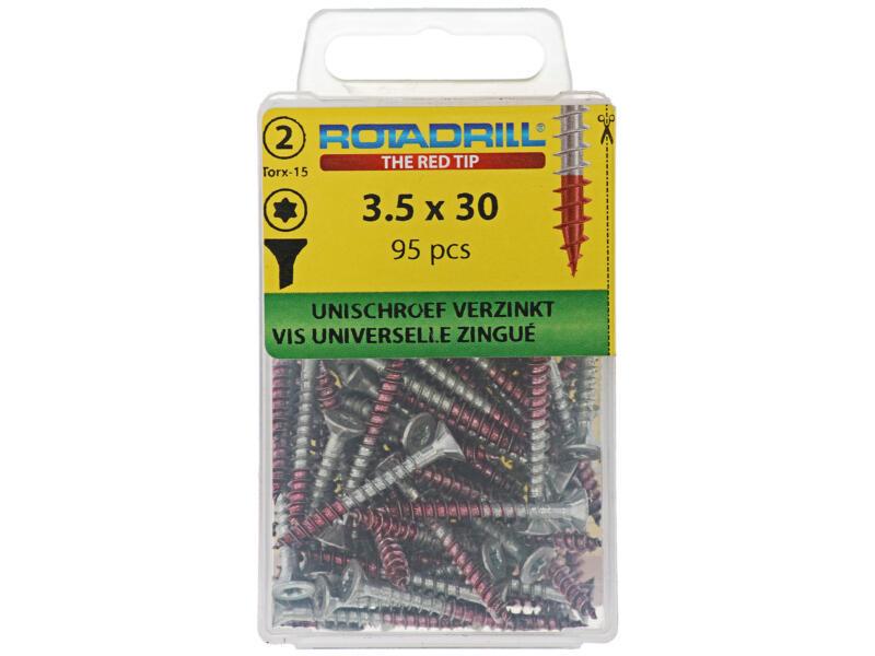 Rotadrill vis universelles TX15 30x3,5 mm zingué 95 pièces