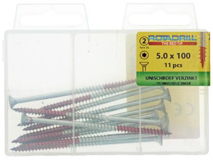 Rotadrill vis universelles TX25 100x5 mm zingué 11 pièces