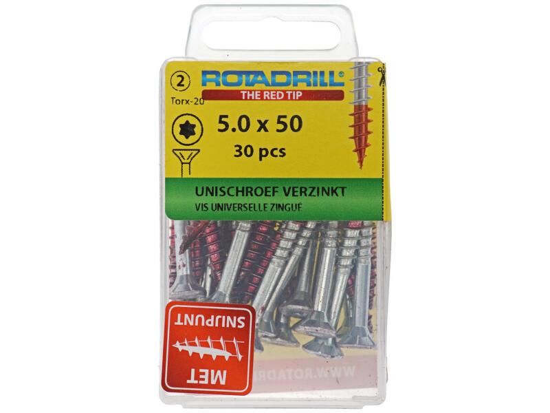 Rotadrill vis universelles TX25 50x5 mm zingué 30 pièces