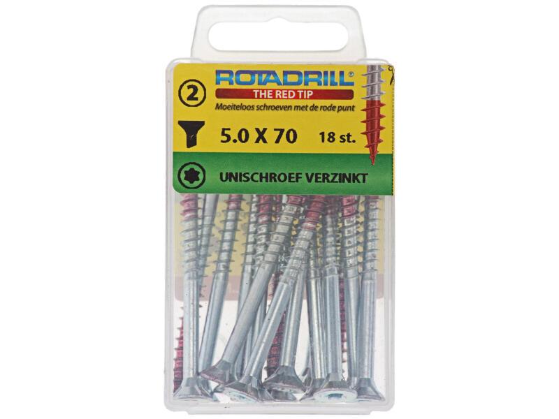 Rotadrill vis universelles TX25 70x5 mm zingué 18 pièces