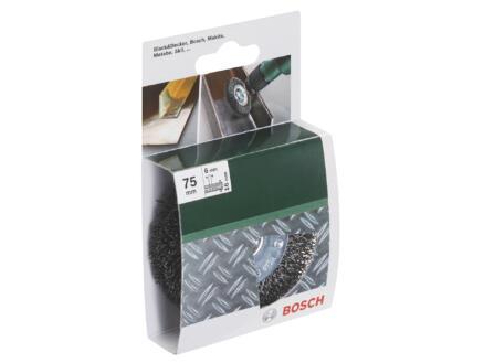 Bosch vlakstaalborstel gegolfd draad 75mm 6mm