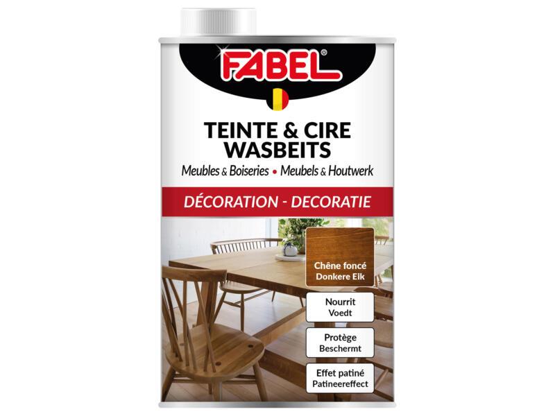 Fabel wasbeits meubels & houtwerk 0,5l donkere eik