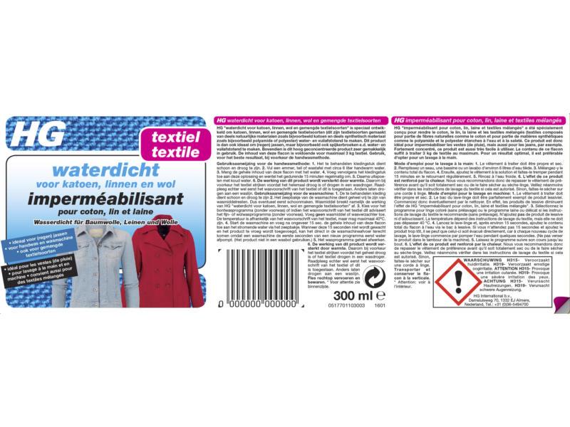 HG waterdicht voor textiel 300ml