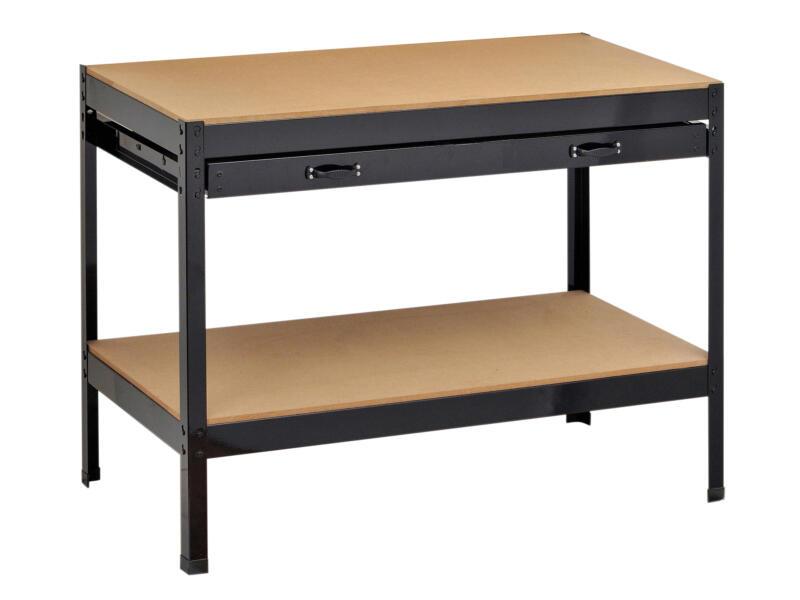 Side Table Met 1 Lade.Practo Home Werkbank Met 1 Lade 100x90x105 Cm Hubo