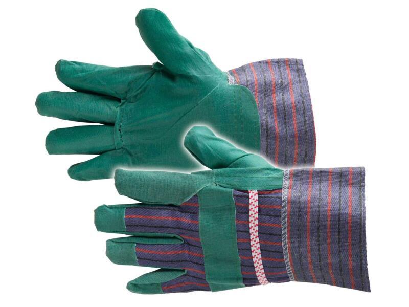 Busters werkhandschoenen XL vinyl groen 2 paar