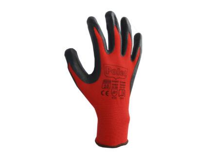 Polet werkhandschoenen nitril XL rood-zwart
