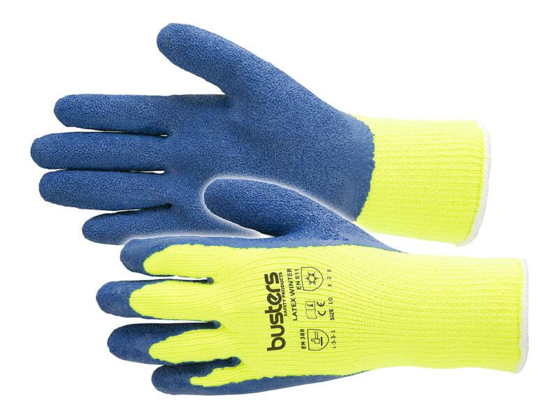 Busters werkhandschoenen winter XL latex geel en blauw