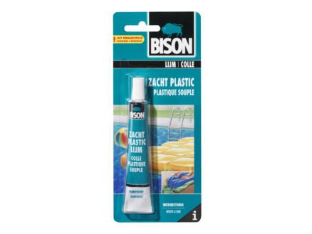 Bison zacht plastic lijm 25ml transparant