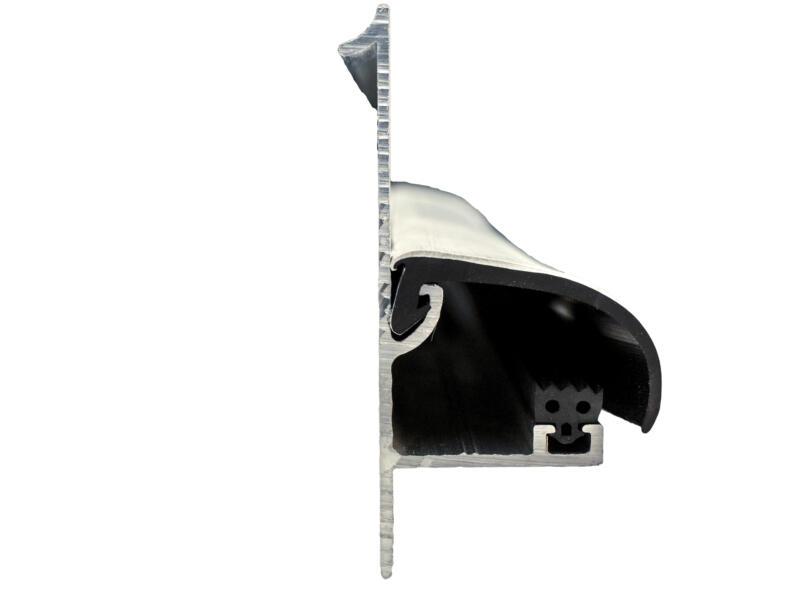 Scala zijkantprofiel met witte rubber 200cm 16mm aluminium