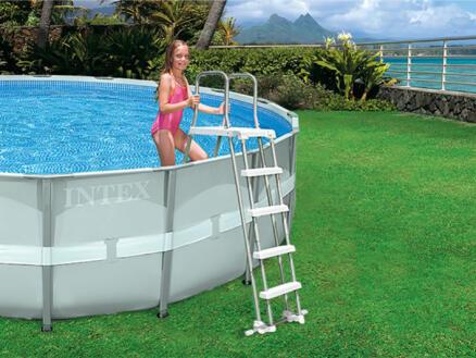 Intex zwembadladder 132cm 2x4 sporten